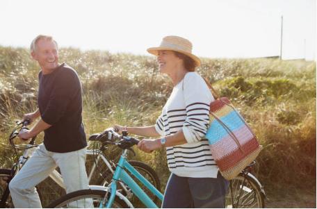 promenade en vélo à la campagne